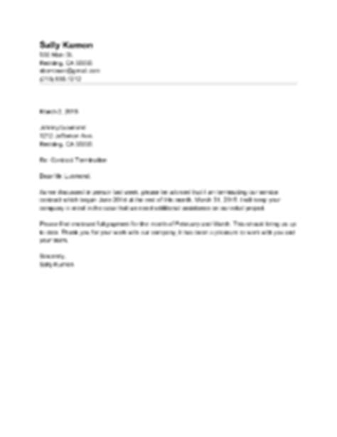 End Of Contract Letter Sle To Employee How To Terminate A Contract With Sle Termination Letters