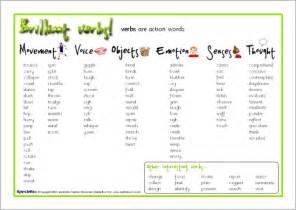 verbs word mat sb6525 sparklebox