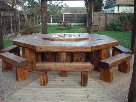 Railway Sleeper Garden Table by Paul Friar S Railway Sleeper Furniture