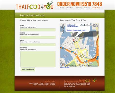 Fab Site Daszigncom by Website Design For Thai Food 4 You Restaurant Gt Fab Web Design
