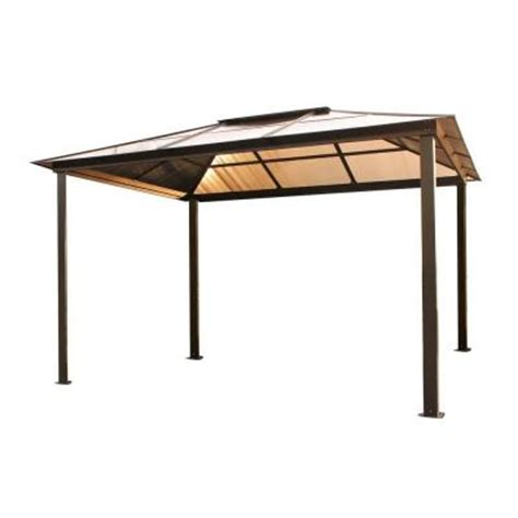 home depot gazebo stc 10 ft x 13 ft madrid gazebo gz620h the home depot