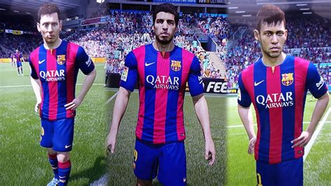 fifa 15 new faces messi suarez neymar and more youtube