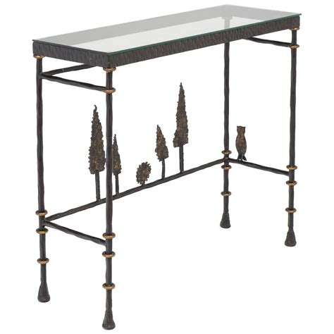 Iron Console Table Giacometti Style Forged Iron Console Table At 1stdibs