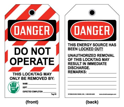 Click Image To Enlarge Lock Out Tags Template