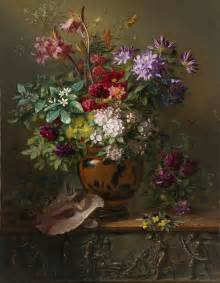 Painting On Flower Vase File Stilleven Met Bloemen In Een Griekse Vaas Allegorie