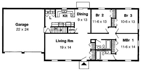simple single floor house plans simple one story 1153g 1st floor master suite cad