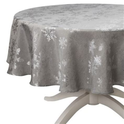 hanukkah tablecloth metallic 70 round tablecloth tablecloths and snowflakes on
