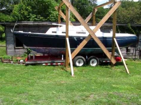 diy pedal boat trailer seafarer 29 cb sailboat 2010 avi youtube