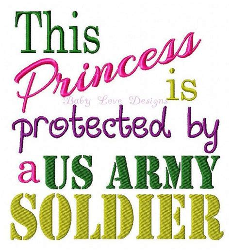 this princess is protected by a us army soldier embroidery