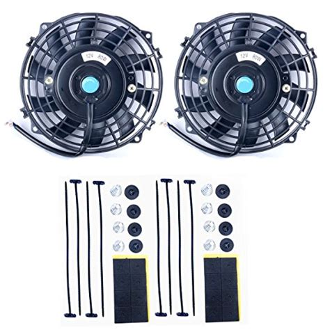 Cooling Fan Black Hi Lo 8milelake 7 inch 12v 80w high performance black slim