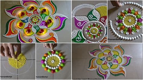 beautiful and unique multicolored rangoli design diwali rangoli archives artsycraftsydad