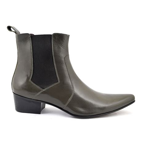 grey chelsea buy cuban heel grey chelsea boot gucinari beatle boot