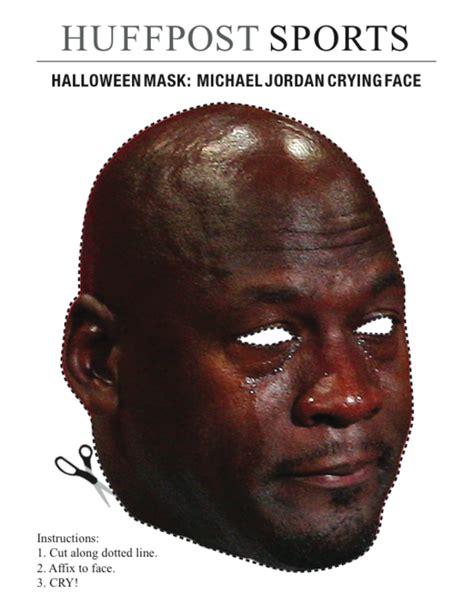 Sad Black Man Meme - halloween mask crying michael jordan know your meme