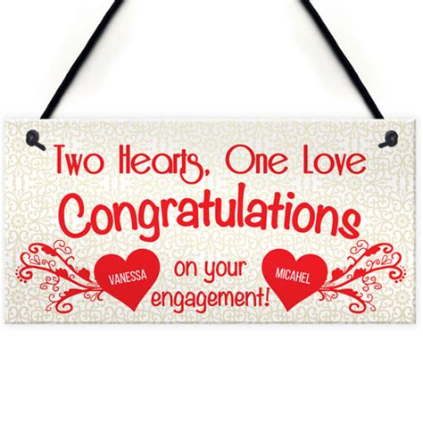 personalised congratulations engagement wedding gift