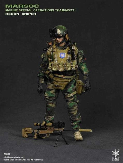 easy simple 26006 marsoc msot recon sniper 1 6 scale preview snipers and simple