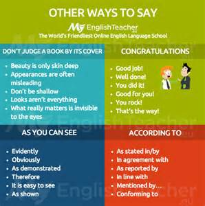 Other ways to say according to as you can see congratulations