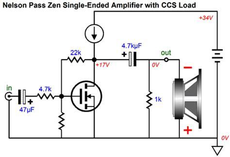 transistor single ended lifier se circlotron zen cccs
