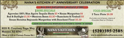 Nana S Kitchen Tucson by Mexican Food Restauant In Tucson Az Nana S Kitchen In