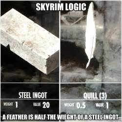Funny Memes And Pictures - skyrim logic