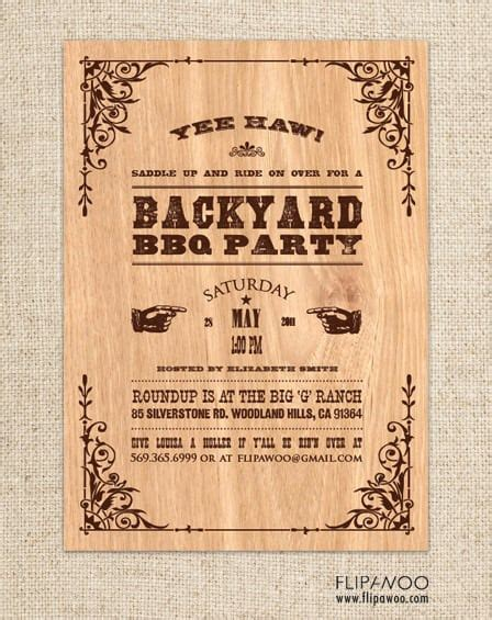 Western Themed Invitations Templates Free Free Western Invitation Template