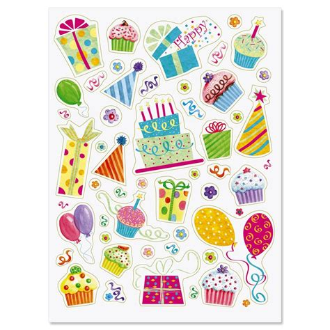 Ordinary Small Office Christmas Gifts #5: Birthday-party-stickers.jpg