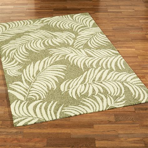 tropical accent rugs sunlight frond tropical indoor outdoor area rugs