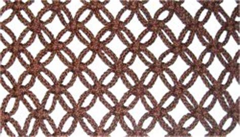 Macrame Net Pattern - alternating square knots