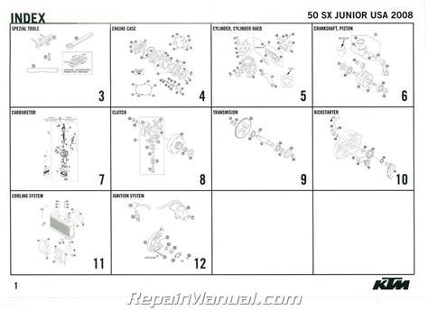 Ktm Parts List 2008 Ktm 50 Sx Junior Engine Spare Parts Manual