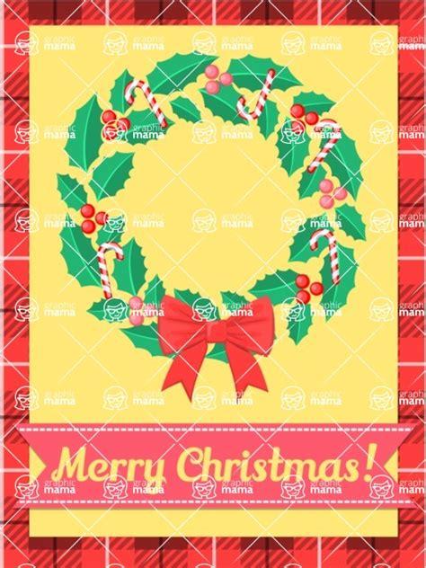 christmas card vector graphics maker design bundle merry christmas card  wreath graphicmama