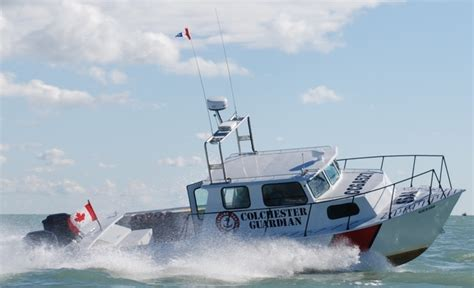 sinking boat on lake erie volunteer rescue crew recovers 9 passengers from sinking