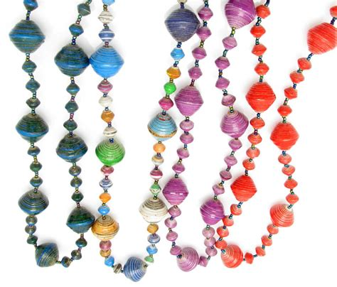 Paper Jewellery For - paper beaded necklaces from africa