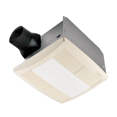bathroom exhaust fan with light and nightlight broan qtr series quiet 110 cfm ceiling exhaust bath fan