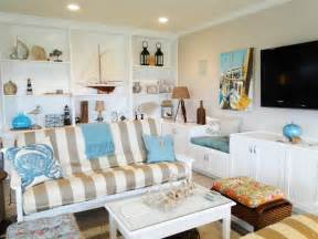 Beach Cottage Home Decor by Coastal Living Room Ideas Living Room And Dining Room