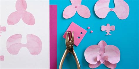 paper orchid flower pattern diy gifts from the heart