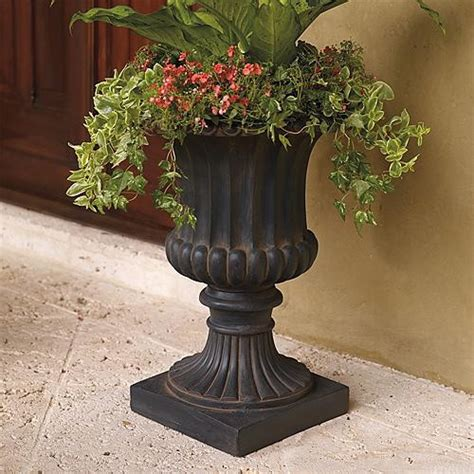 Garden Urns Planters by Small Tuscany Urn Frontgate Traditional Outdoor Pots