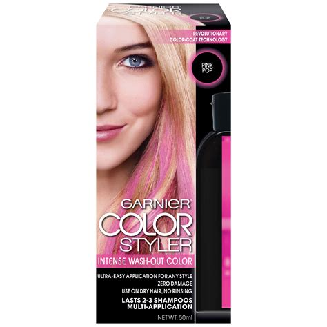 photos of washout hair dye garnier color styler intense wash out haircolor pink pop 1