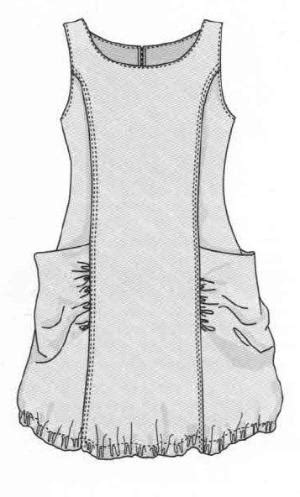 Chelsea Tunik Blouse free slip pattern japanese pdf a4