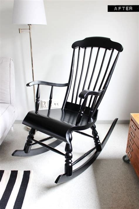 Rocking Chair Makeover Rockers And Black White Nursery On Black Nursery Rocking Chair