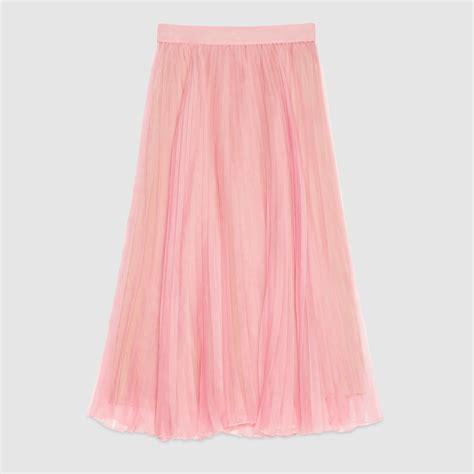 Organza Silk Sutera Baby Pink gucci silk organza pleated skirt in pink lyst