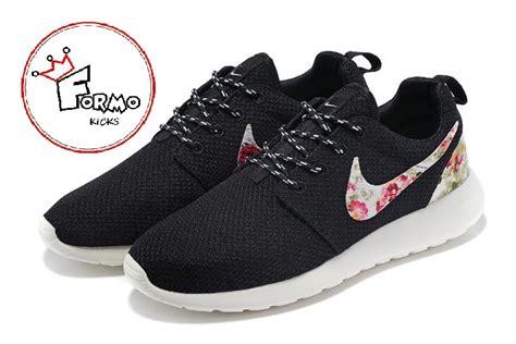 custom nike roshe run athletic running shoes  floral