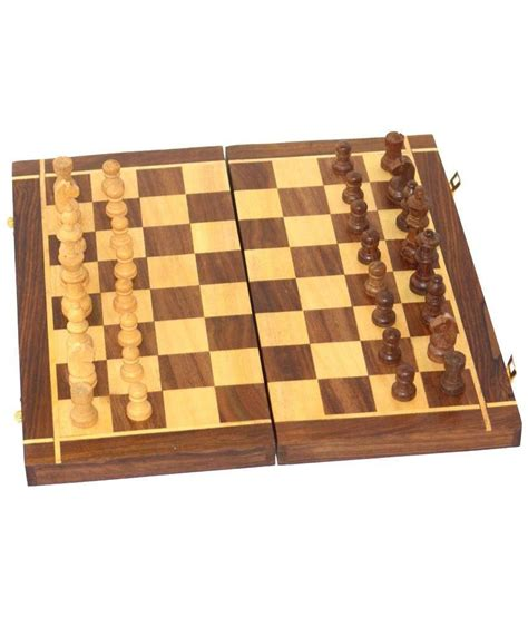 chess board buy desi karigar brown wooden chess board buy online at best