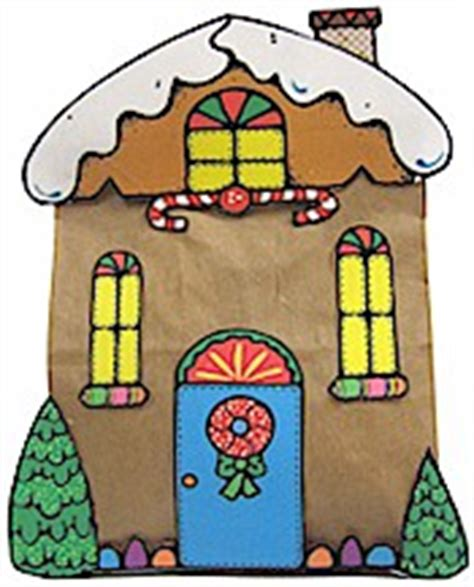 Printable Paper Bag Gingerbread House | printable gingerbread house