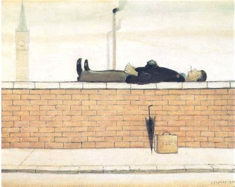 l s lowry lowry original lying on a wall