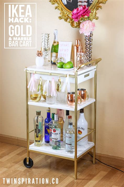 ikea cart hack ikea hack gold marble bar cart twinspiration