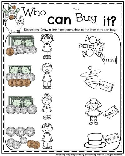 Money Worksheets 2nd Grade by Money Worksheets For 2nd Grade Planning Playtime