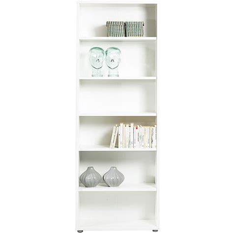 5 shelf white bookcase fairfax 5 shelf wide bookcase white walmart