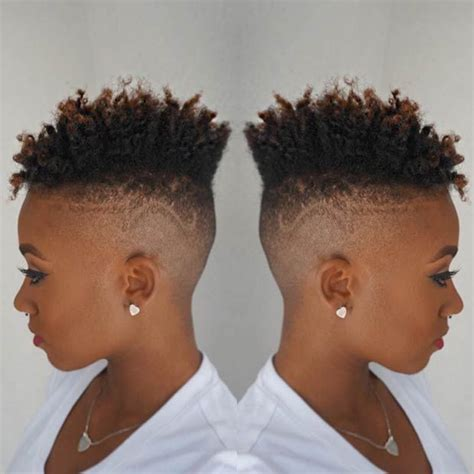 faded haircut for black women 1000 images about all natural do s short long on