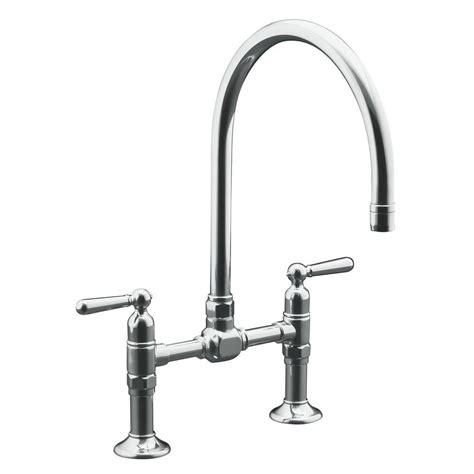 bridge faucets kitchen franke manor house gooseneck bridge kitchen faucet