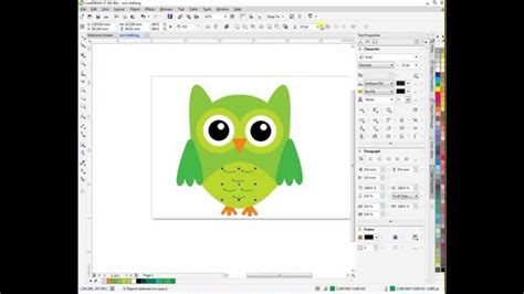 tutorial vector corel draw x7 corel draw tutorial x7 owl t shirt design art vector