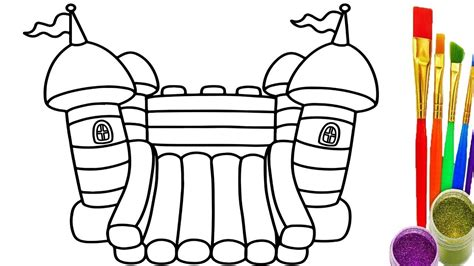 coloring page bounce house how to draw playground for childrens coloring pages